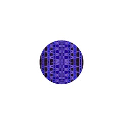 Blue Black Geometric Pattern 1  Mini Magnets