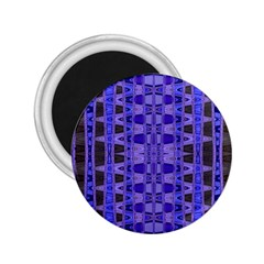 Blue Black Geometric Pattern 2.25  Magnets