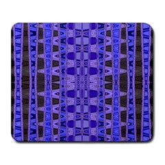 Blue Black Geometric Pattern Large Mousepads