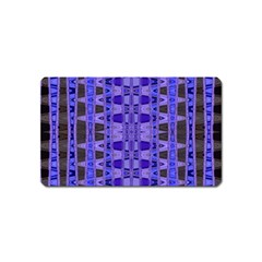 Blue Black Geometric Pattern Magnet (Name Card)