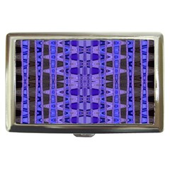 Blue Black Geometric Pattern Cigarette Money Cases