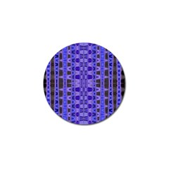 Blue Black Geometric Pattern Golf Ball Marker