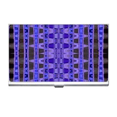 Blue Black Geometric Pattern Business Card Holders