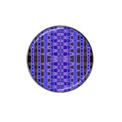 Blue Black Geometric Pattern Hat Clip Ball Marker (4 pack)