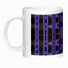 Blue Black Geometric Pattern Night Luminous Mugs