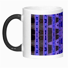 Blue Black Geometric Pattern Morph Mugs