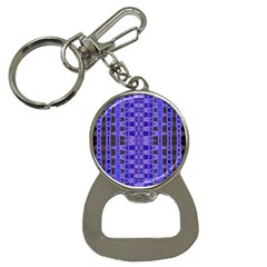 Blue Black Geometric Pattern Bottle Opener Key Chains