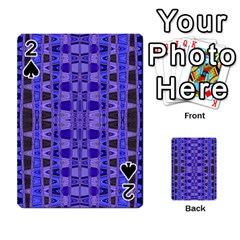 Blue Black Geometric Pattern Playing Cards 54 Designs
