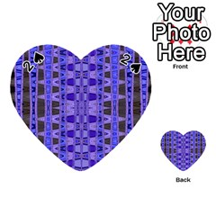 Blue Black Geometric Pattern Playing Cards 54 (Heart)