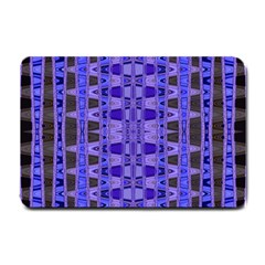 Blue Black Geometric Pattern Small Doormat
