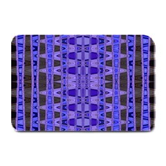 Blue Black Geometric Pattern Plate Mats