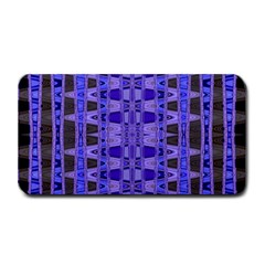 Blue Black Geometric Pattern Medium Bar Mats