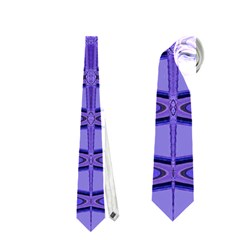 Blue Black Geometric Pattern Neckties (Two Side)