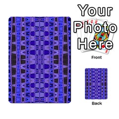 Blue Black Geometric Pattern Multi-purpose Cards (Rectangle)