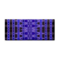 Blue Black Geometric Pattern Hand Towel