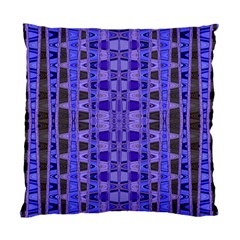 Blue Black Geometric Pattern Standard Cushion Case (One Side)