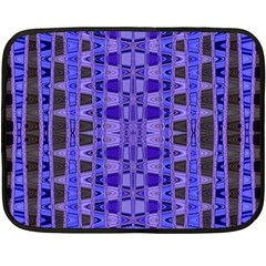 Blue Black Geometric Pattern Fleece Blanket (Mini)
