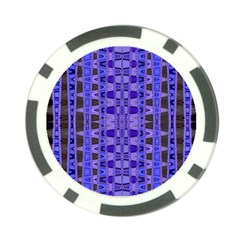 Blue Black Geometric Pattern Poker Chip Card Guards (10 pack)