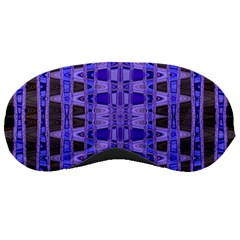 Blue Black Geometric Pattern Sleeping Masks