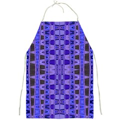 Blue Black Geometric Pattern Full Print Aprons