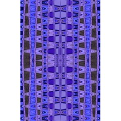 Blue Black Geometric Pattern 5.5  x 8.5  Notebooks