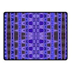 Blue Black Geometric Pattern Fleece Blanket (Small)