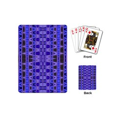 Blue Black Geometric Pattern Playing Cards (Mini)