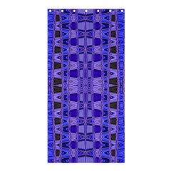 Blue Black Geometric Pattern Shower Curtain 36  x 72  (Stall)