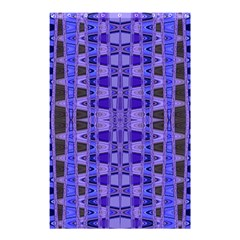 Blue Black Geometric Pattern Shower Curtain 48  x 72  (Small)