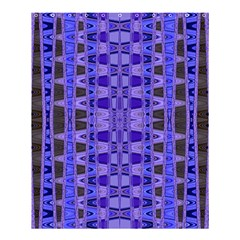 Blue Black Geometric Pattern Shower Curtain 60  x 72  (Medium)