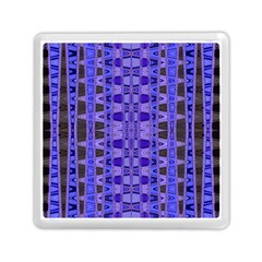 Blue Black Geometric Pattern Memory Card Reader (Square)