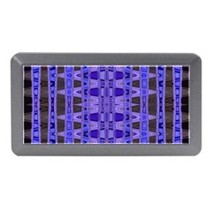 Blue Black Geometric Pattern Memory Card Reader (mini)