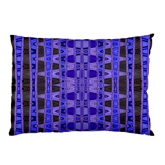 Blue Black Geometric Pattern Pillow Case (two Sides)