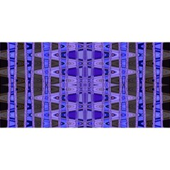 Blue Black Geometric Pattern You Are Invited 3d Greeting Card (8x4)  by BrightVibesDesign