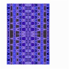 Blue Black Geometric Pattern Large Garden Flag (Two Sides)