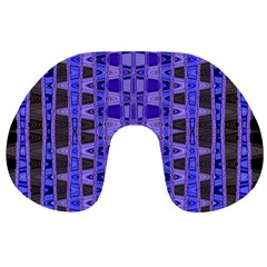 Blue Black Geometric Pattern Travel Neck Pillows