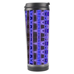 Blue Black Geometric Pattern Travel Tumbler