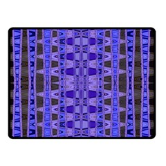 Blue Black Geometric Pattern Double Sided Fleece Blanket (Small)