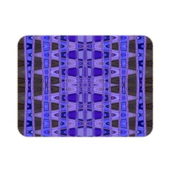 Blue Black Geometric Pattern Double Sided Flano Blanket (Mini)