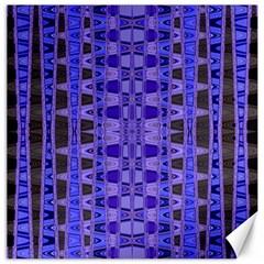 Blue Black Geometric Pattern Canvas 12  X 12