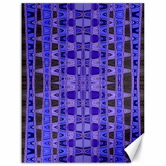 Blue Black Geometric Pattern Canvas 18  x 24