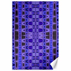 Blue Black Geometric Pattern Canvas 20  X 30