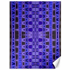 Blue Black Geometric Pattern Canvas 36  X 48
