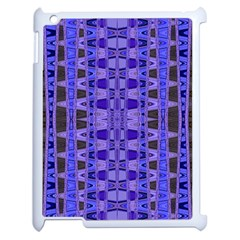 Blue Black Geometric Pattern Apple iPad 2 Case (White)