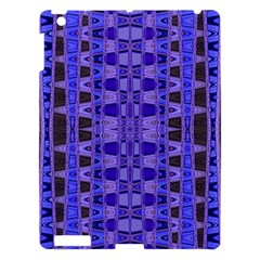 Blue Black Geometric Pattern Apple iPad 3/4 Hardshell Case