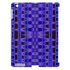 Blue Black Geometric Pattern Apple iPad 3/4 Hardshell Case (Compatible with Smart Cover)