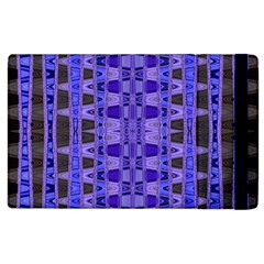 Blue Black Geometric Pattern Apple Ipad 2 Flip Case by BrightVibesDesign