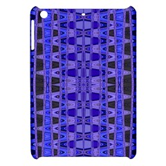 Blue Black Geometric Pattern Apple iPad Mini Hardshell Case