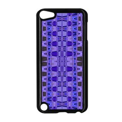 Blue Black Geometric Pattern Apple iPod Touch 5 Case (Black)