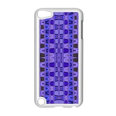 Blue Black Geometric Pattern Apple iPod Touch 5 Case (White)